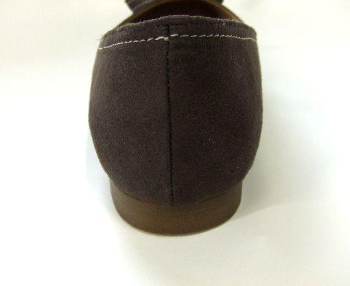 画像3: ヌバック茶 生成りステッチりぼん